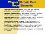 wagner chronic care model elements