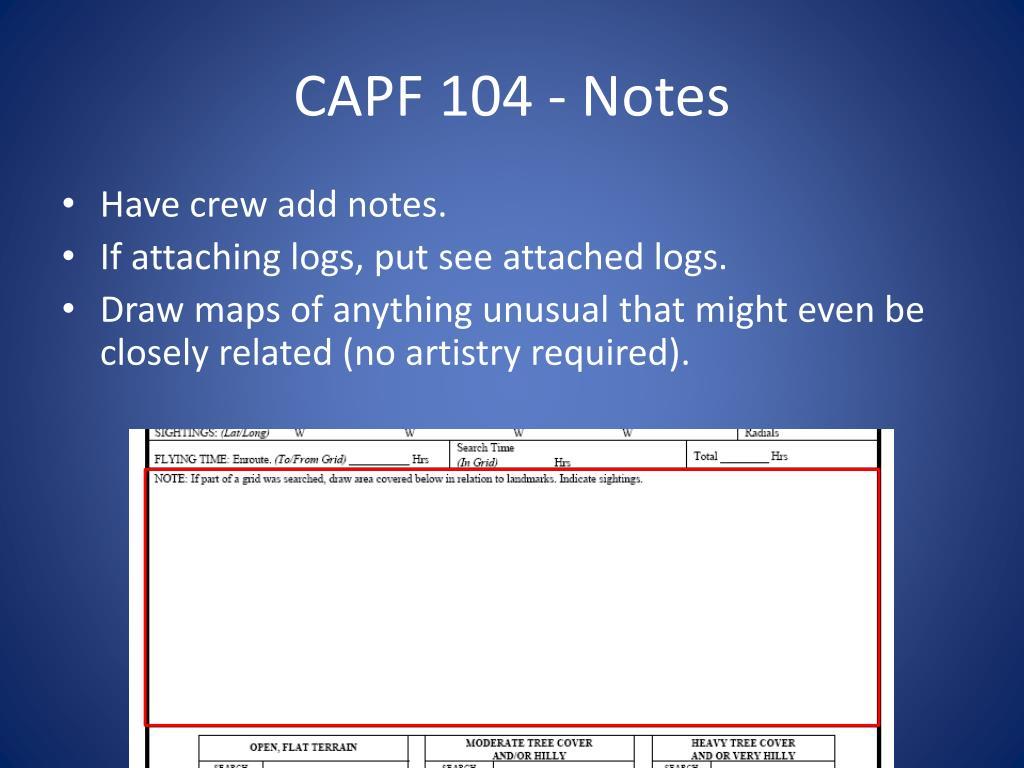CAPF 104 - Notes