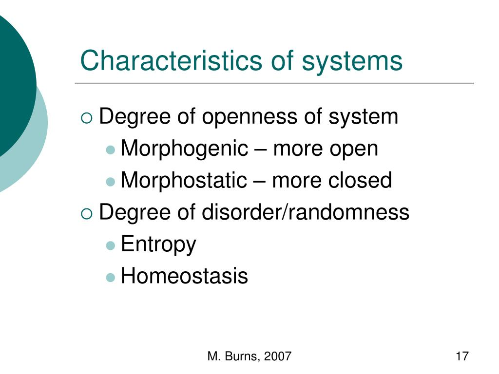 Characteristics of systems