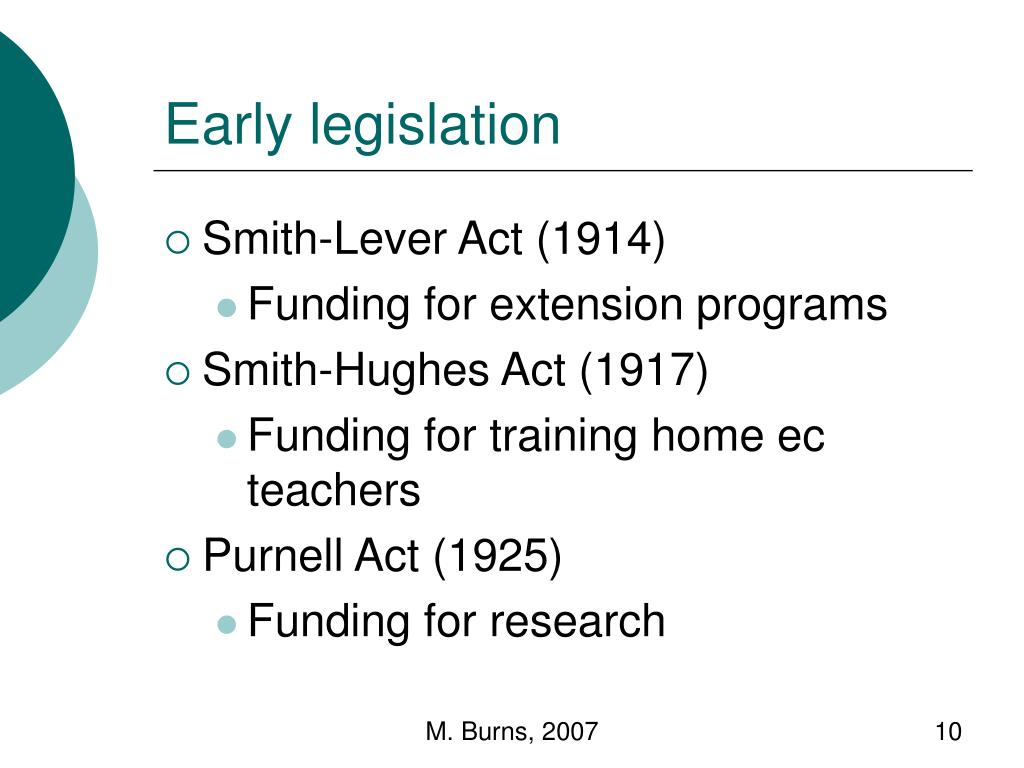 Early legislation