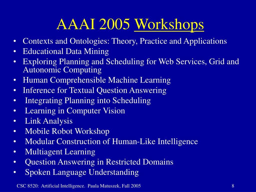 AAAI 2005