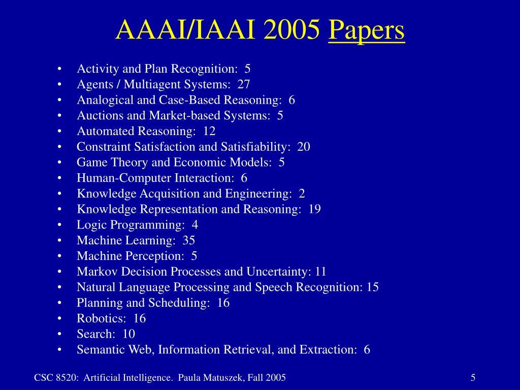 AAAI/IAAI 2005