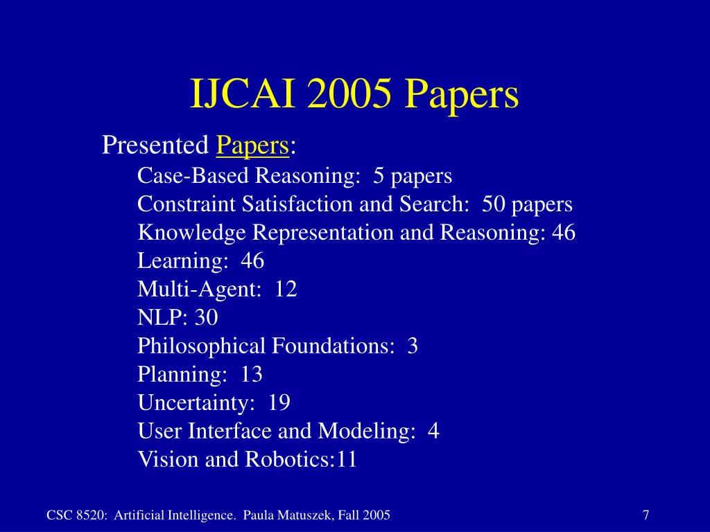 IJCAI 2005 Papers