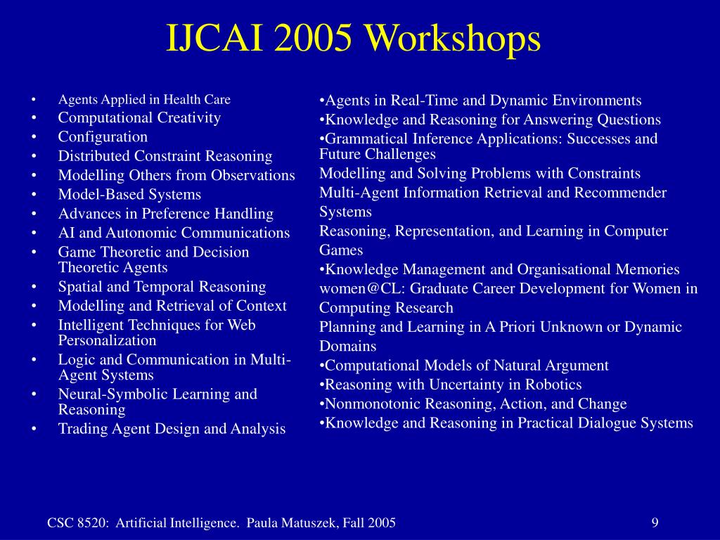 IJCAI 2005 Workshops