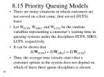 8 15 priority queuing models
