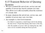 8 15 transient behavior of queuing systems