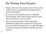 the waiting time paradox