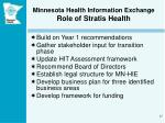 minnesota health information exchange role of stratis health
