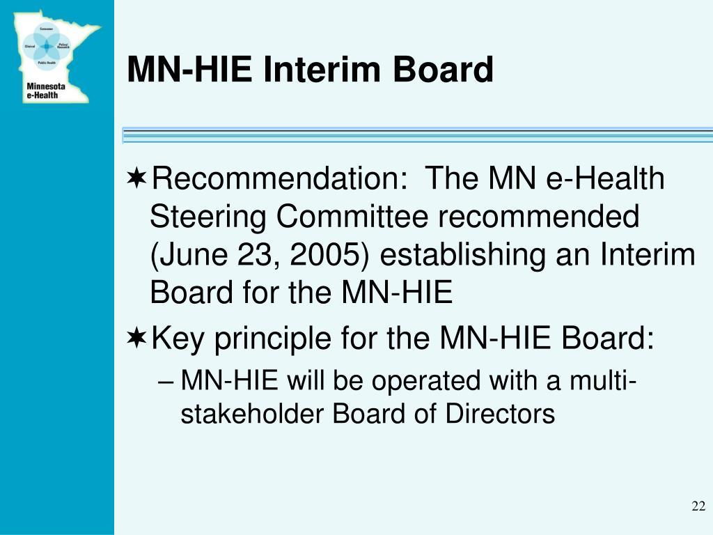 MN-HIE Interim Board