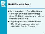 mn hie interim board