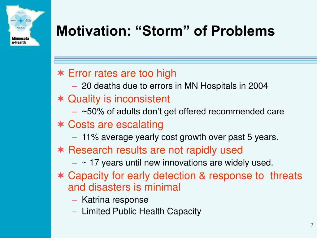 "Motivation: ""Storm"" of Problems"