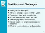 next steps and challenges