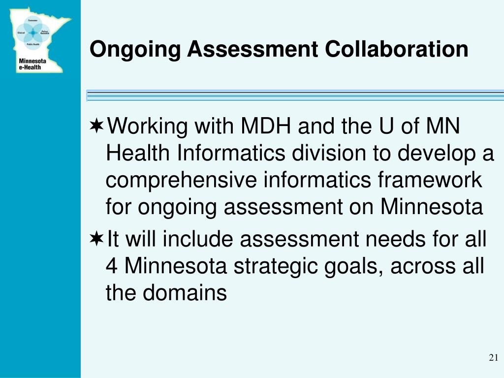 Ongoing Assessment Collaboration