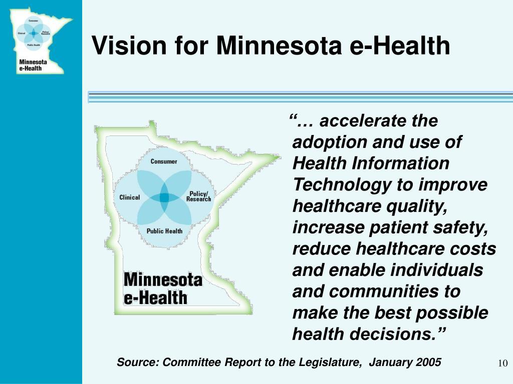 Vision for Minnesota e-Health