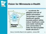 vision for minnesota e health
