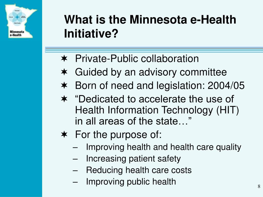 What is the Minnesota e-Health Initiative?