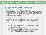 change your mental model