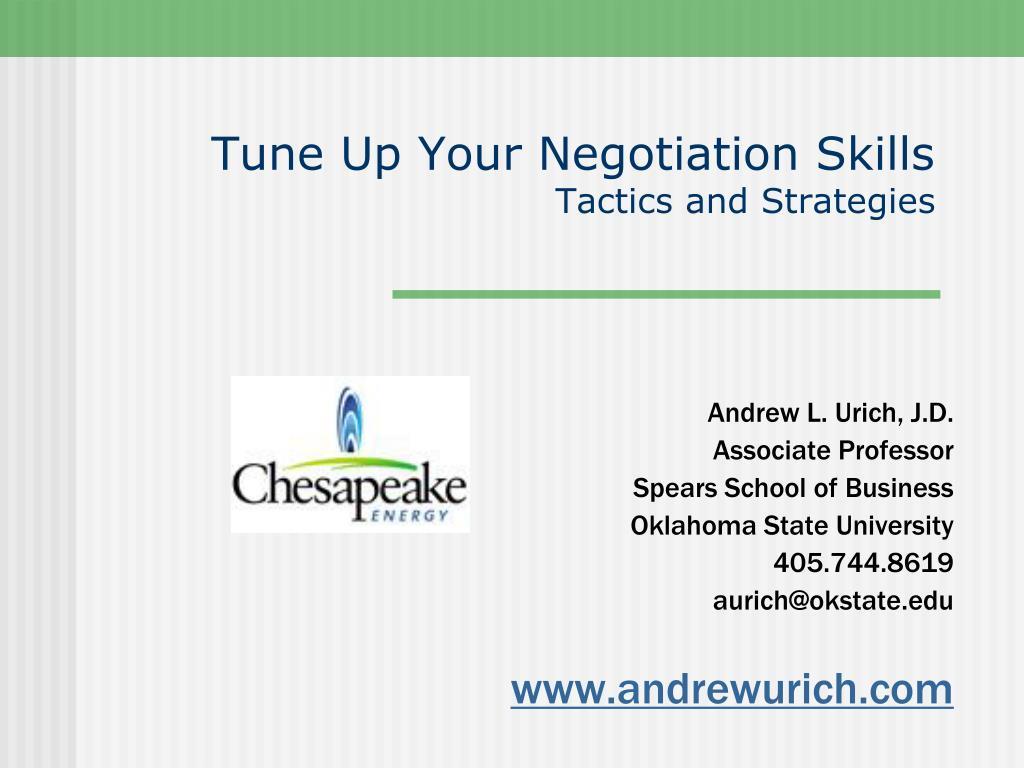 tune up your negotiation skills tactics and strategies l.