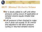 mov minimal occlusive volume