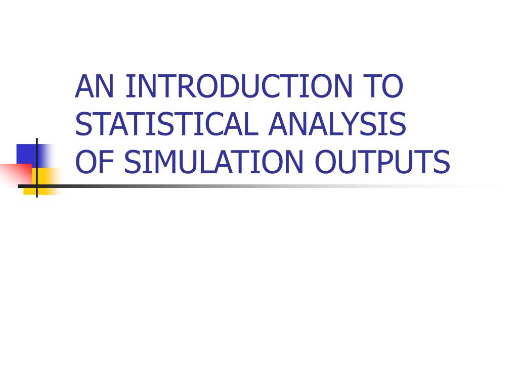AN INTRODUCTION TO STATISTICAL ANALYSIS