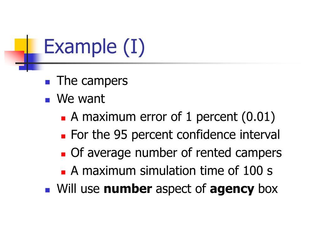 Example (I)