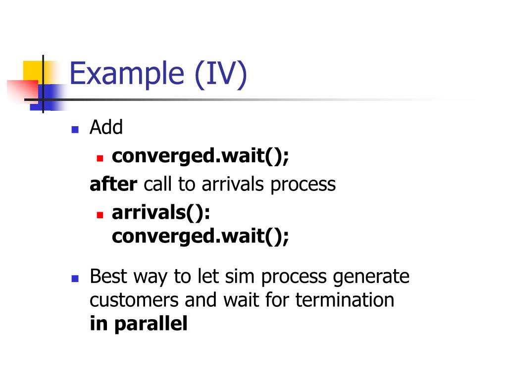 Example (IV)