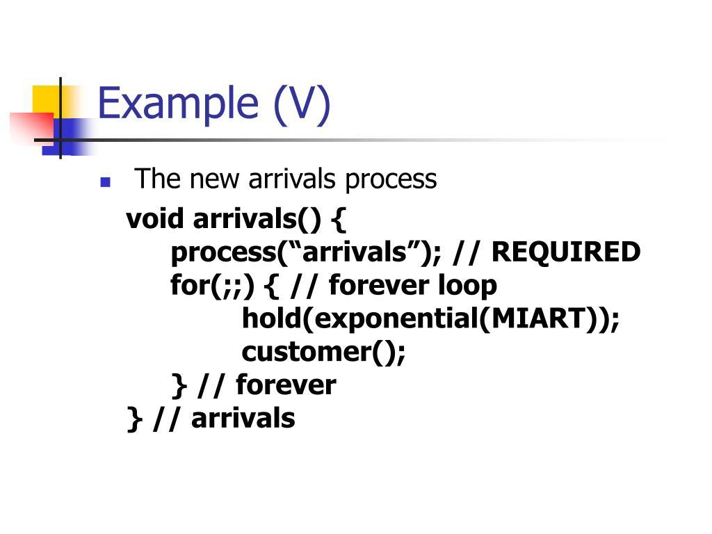 Example (V)