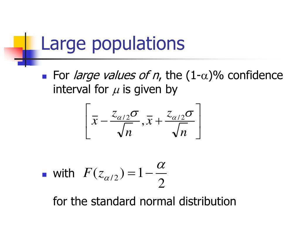 Large populations