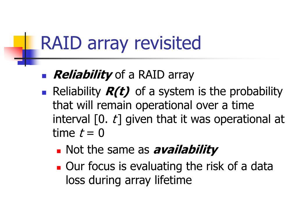RAID array revisited