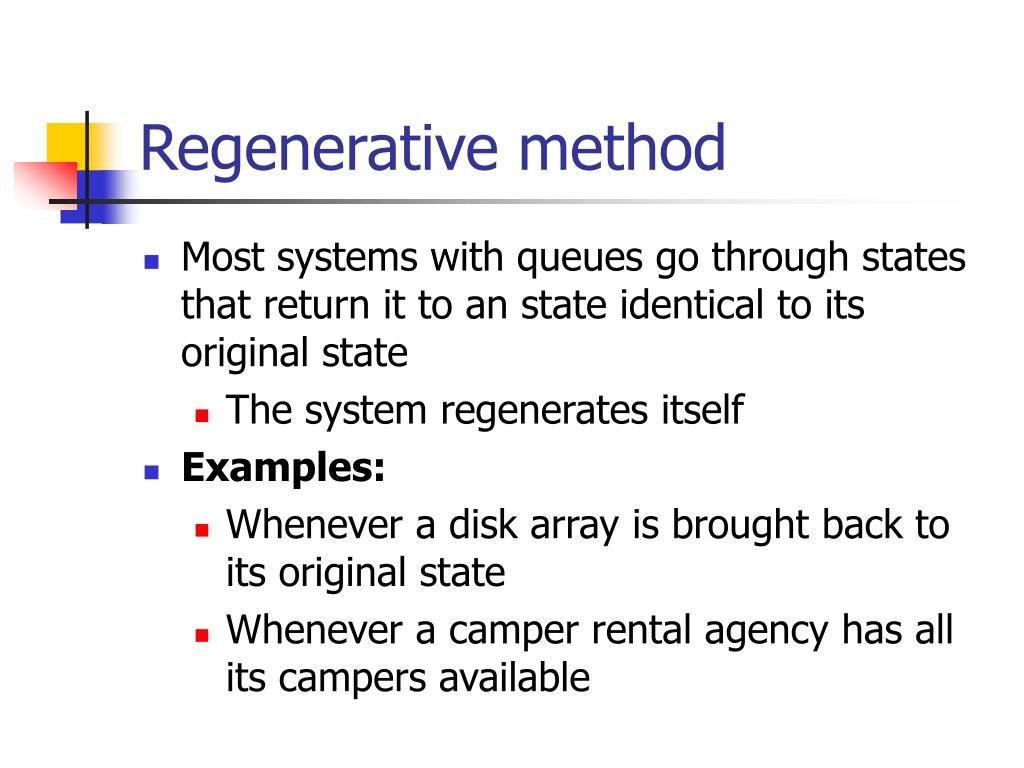 Regenerative method