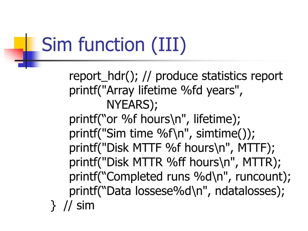 Sim function (III)