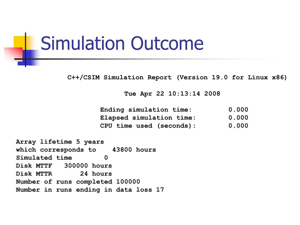 Simulation Outcome