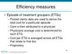 efficiency measures44