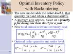 optimal inventory policy with backordering10