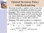 optimal inventory policy with backordering11