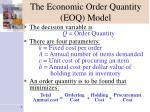 the economic order quantity eoq model