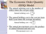 the economic order quantity eoq model5