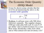 the economic order quantity eoq model7