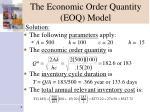 the economic order quantity eoq model8