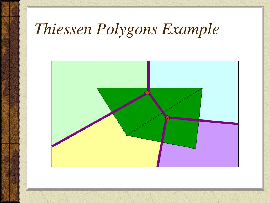 Thiessen Polygons Example