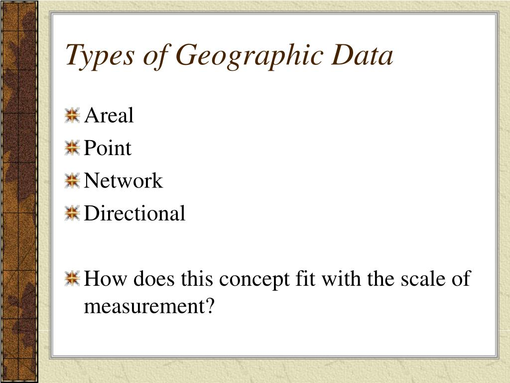 Types of Geographic Data