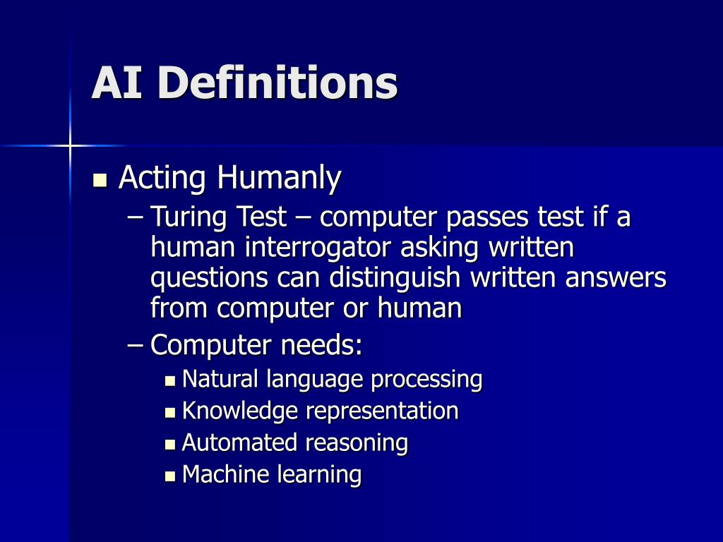 AI Definitions