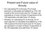 present and future value of annuity