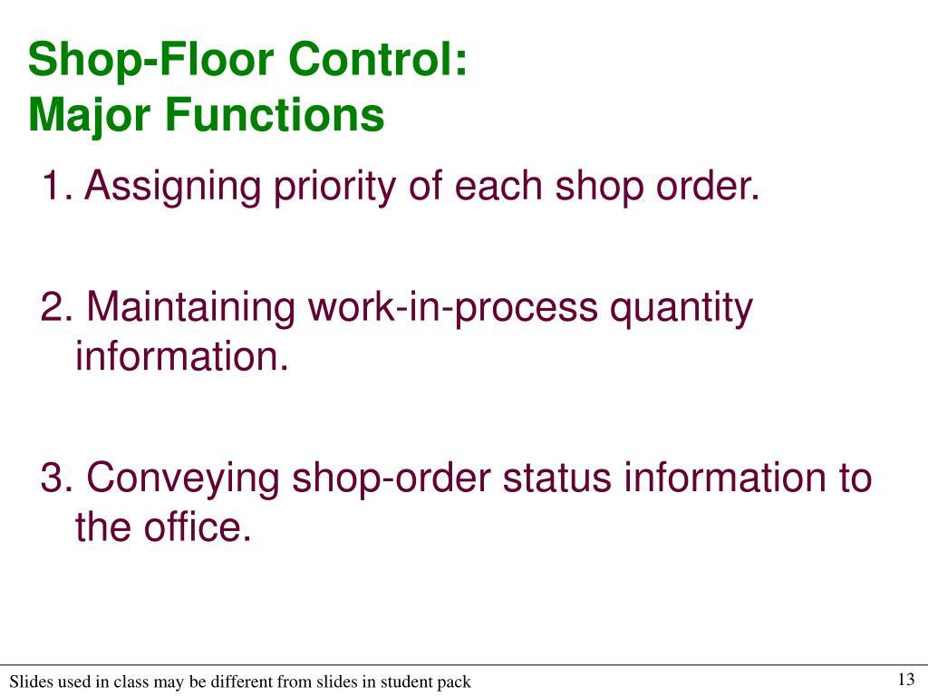 Shop-Floor Control:
