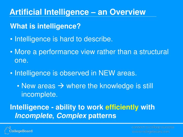 Artificial intelligence an overview2