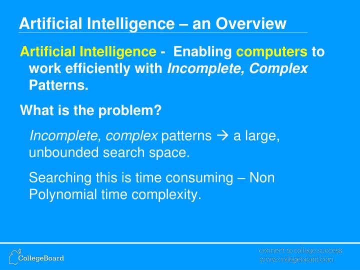 Artificial intelligence an overview3