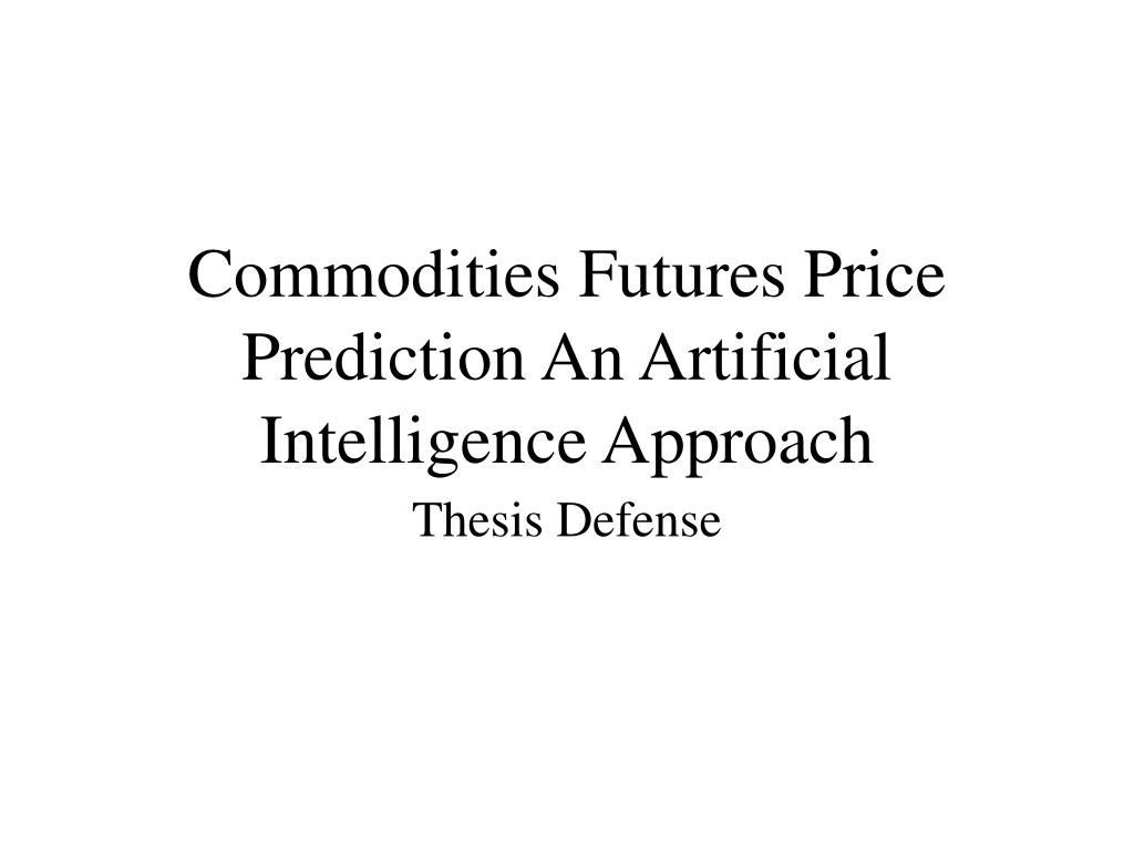 commodities futures price prediction an artificial intelligence approach l.