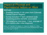 impact of physical and psychosocial factors on work22