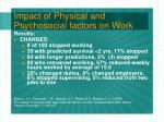 impact of physical and psychosocial factors on work23