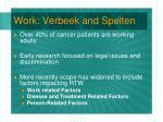 work verbeek and spelten